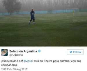 Lionel Messi Pictured Training With Argentina Team